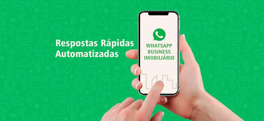 Respostas rápidas automatizadas no WhatsApp Imobiliário